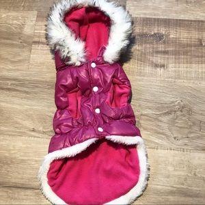 Jackets & Blazers - Pink Small Dog Parka